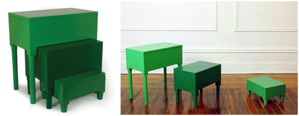 Nesting Tables & Step Stools Designer Paul Loebach