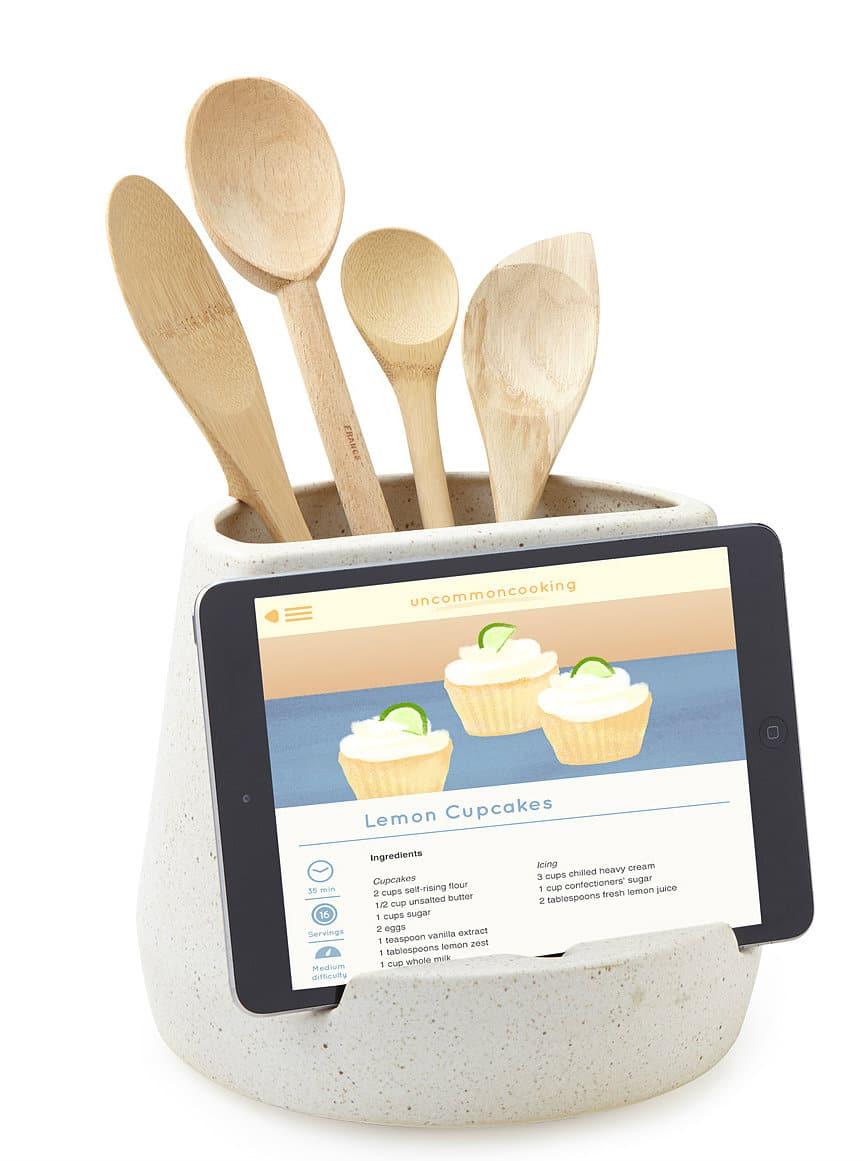Kitchen Utensil and Tablet Holder