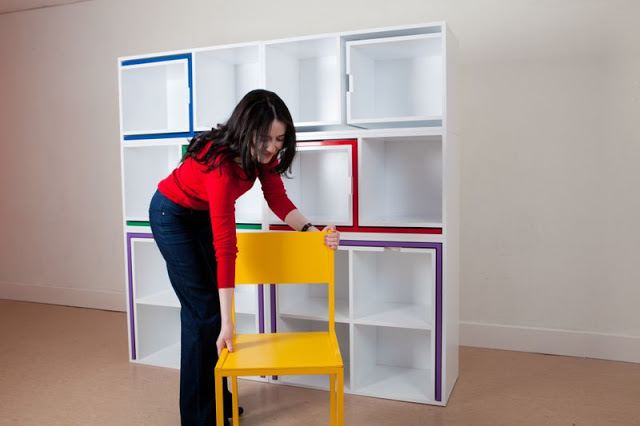 Reynolds5 1 - A bookcase with built in dining table