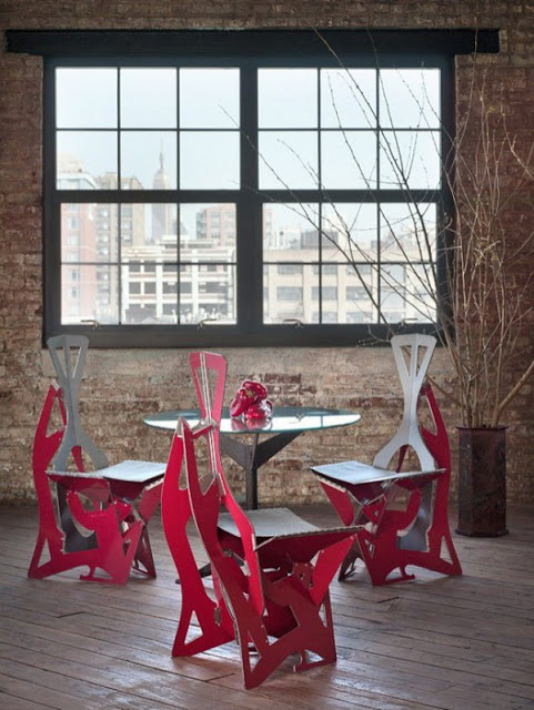Fold6 1 - Store dining arrangement for 20 people in 20 inches