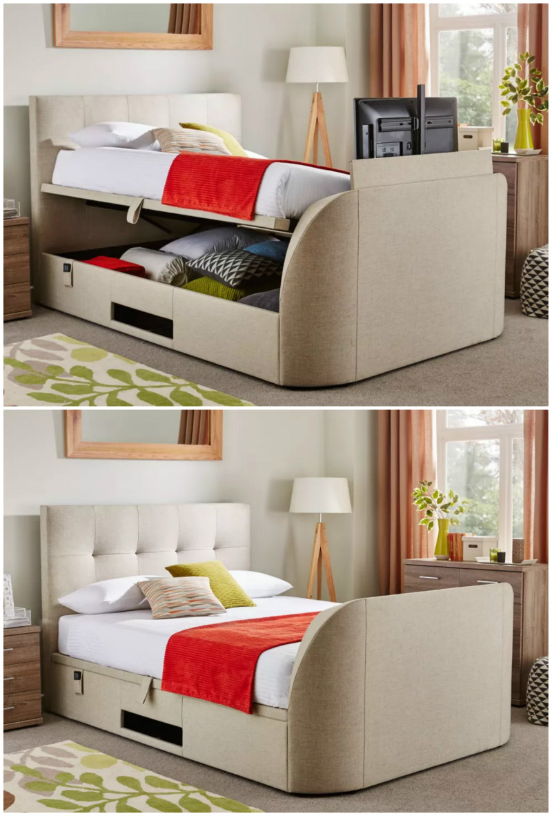 Compact Double Bed With Storage