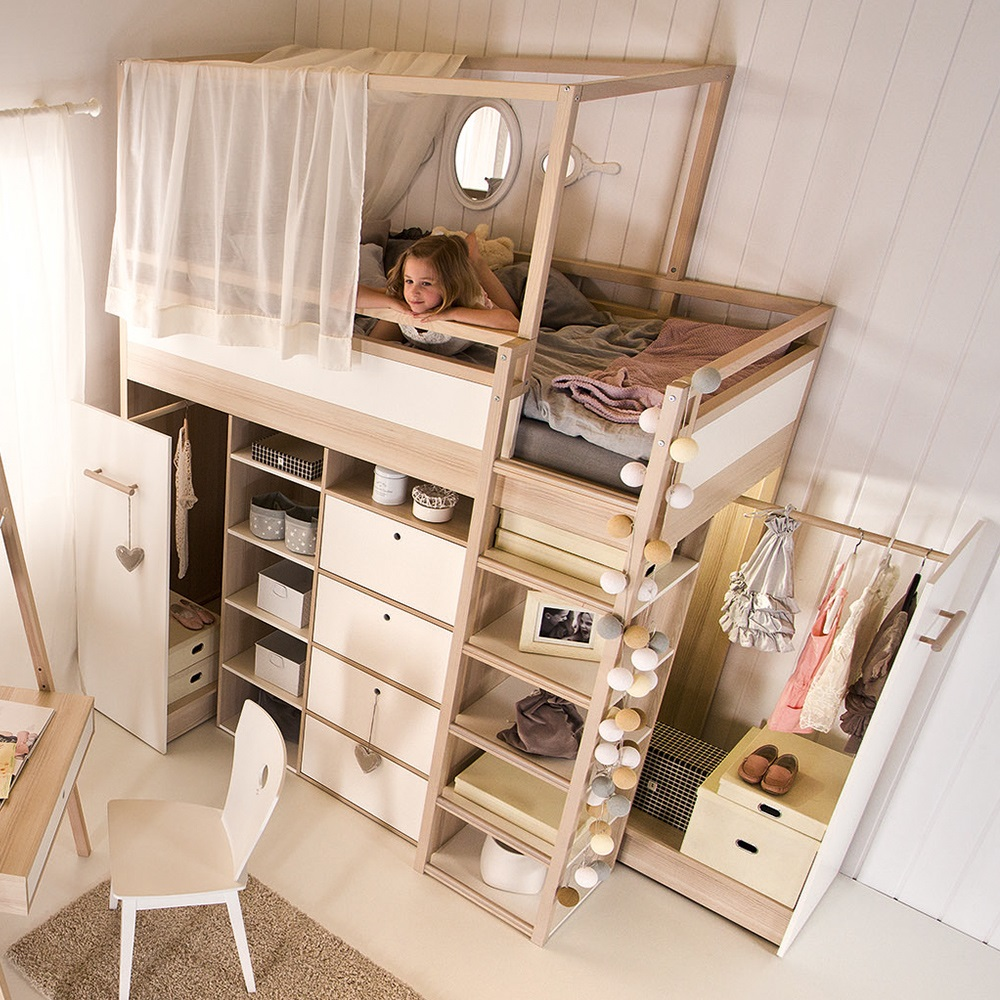 Space Saving Loft Bed 10 Great Spacesaving Beds  Living In A Shoebox