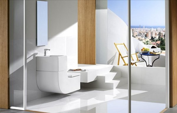 w 1 - Water saving design combines sink and toilet
