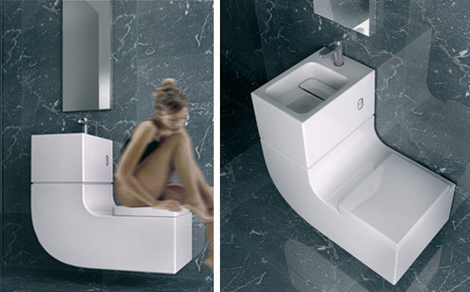 w1 1 - Water saving design combines sink and toilet