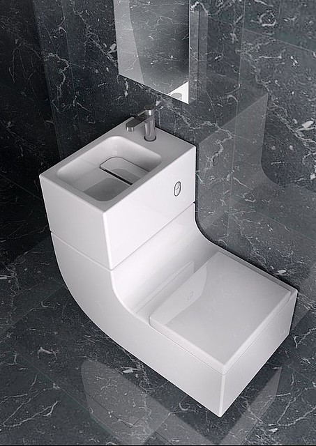 w4 1 - Water saving design combines sink and toilet