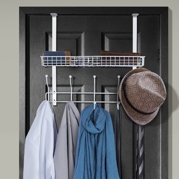 Over The Door Hooks And Mesh Basket ($26.99). Over The Door Design  Maximizes Your Storage Space And Features 10 Hooks For Bags, Coats,  Scarves, Belts, ...