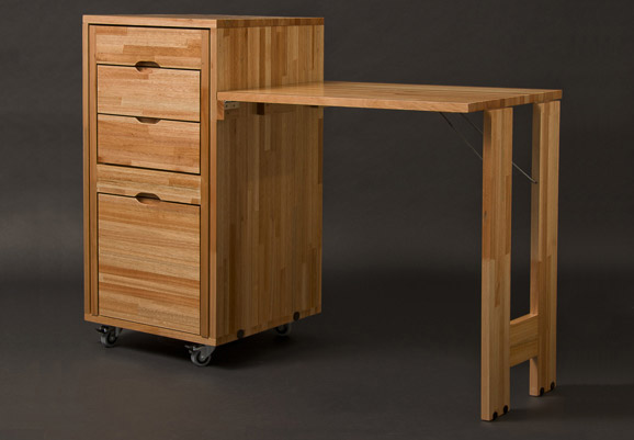 Transforming Cabinet With Hidden Table And Chairs From