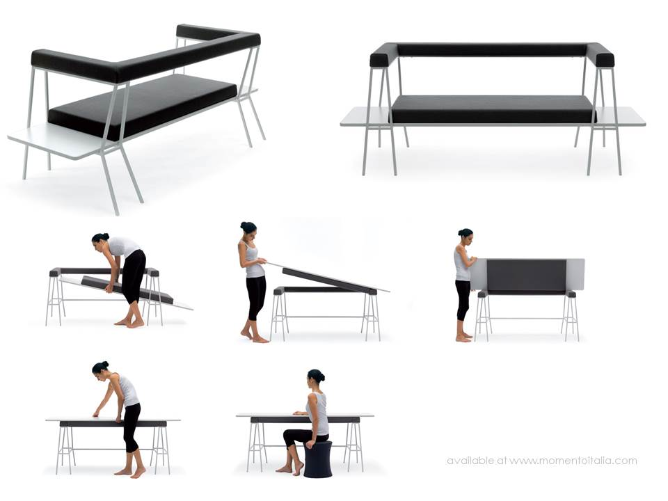 Italian multifunctional furniture - Living in a shoebox