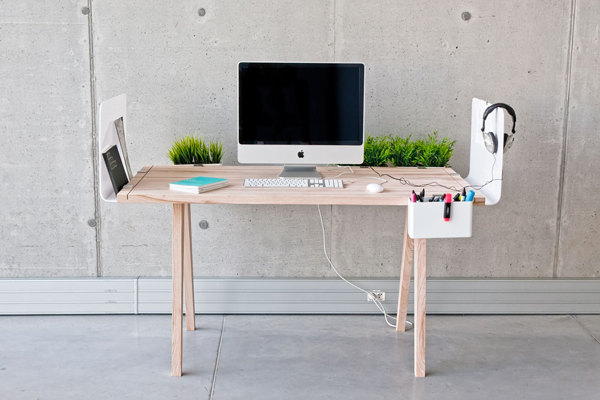 Desk And Space Divider With A Multitude Of Storage