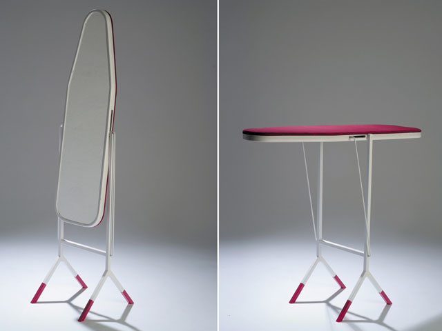 Mirror And Ironing Board In One Living In A Shoebox