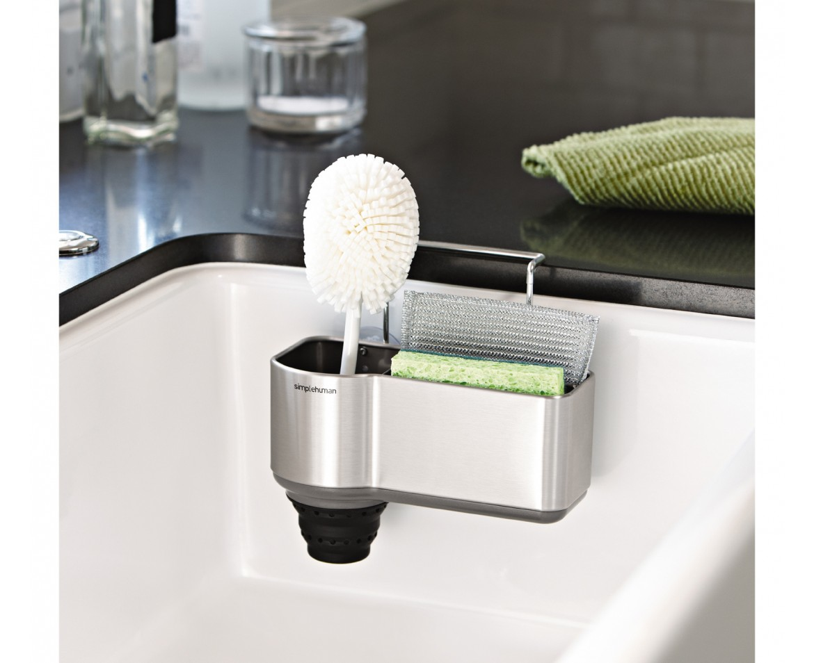 kitchen sink caddy 20 space saving ideas for the kitchen living in a shoebox 2604