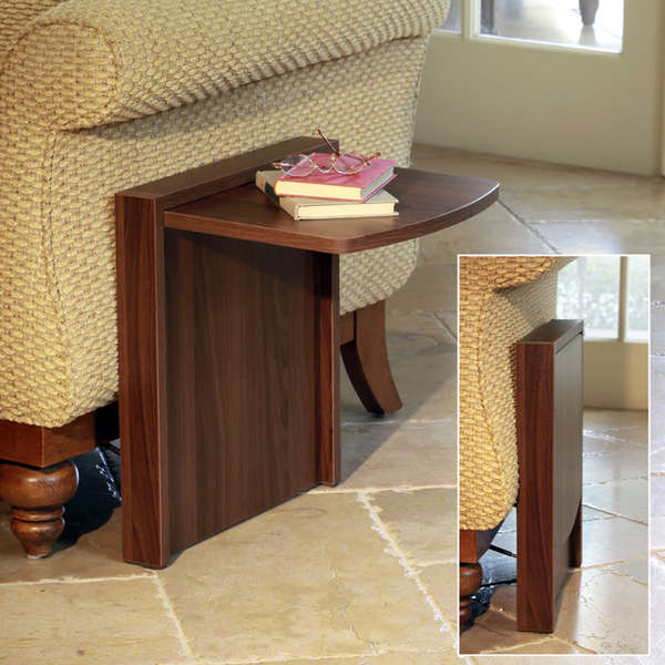 A side table that quotdisappearsquot when you dont need it  : tuc away table 1 from livinginashoebox.com size 600 x 600 jpeg 49kB