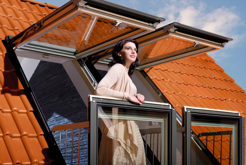 window converts into balcony 5 - Skylight window converts into balcony