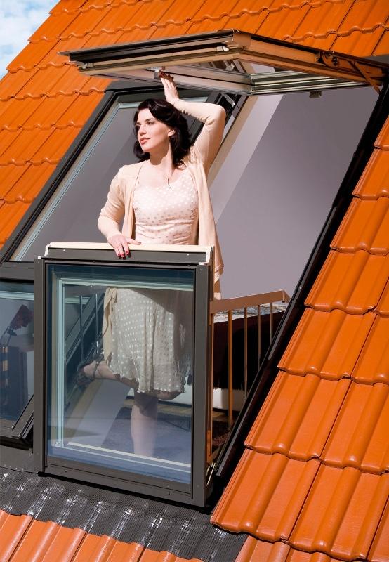 window converts into balcony 9 - Skylight window converts into balcony