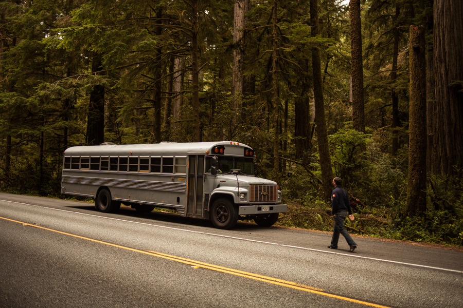 Converted bus 10 - Architecture student converts school bus into mobile home