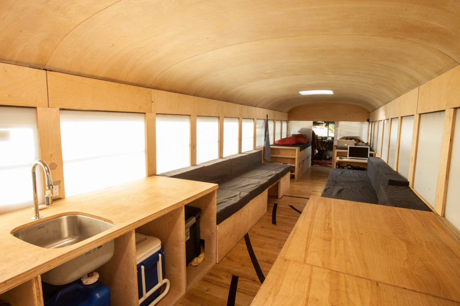 Converted bus 2 - Architecture student converts school bus into mobile home