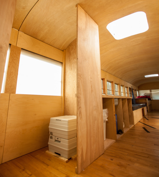 Converted bus 5 - Architecture student converts school bus into mobile home