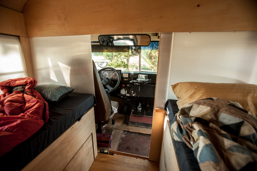 Converted bus 9 - Architecture student converts school bus into mobile home