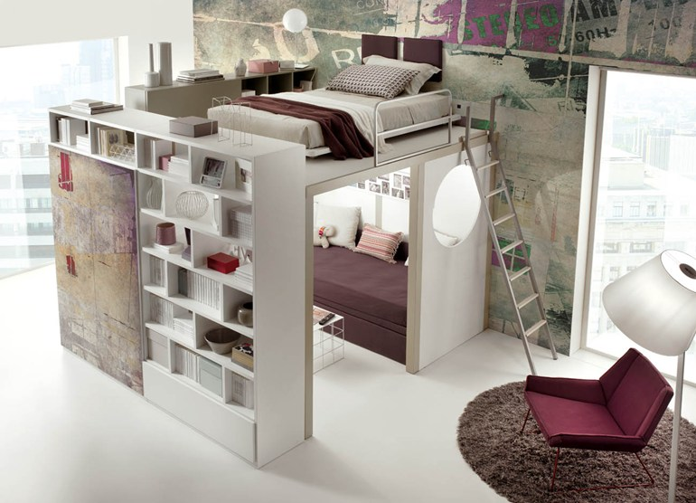 Cool Ideas of Tumidei Loft Beds for Sale with Fresh Design: Cool Room Ideas  For