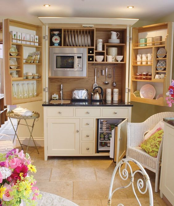 The Complete Kitchenette from Culshaw Bell is a stylish and compact piece  of free standing kitchen furniture. This bespoke free standing cupboard is  an ...