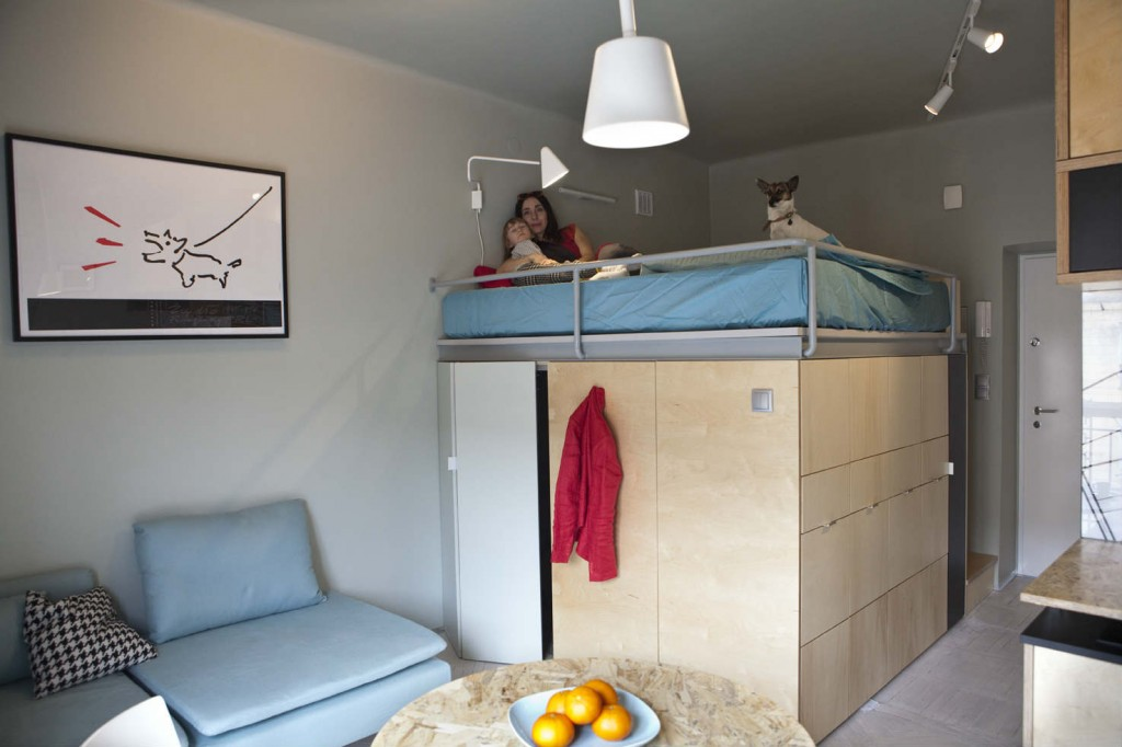 Mother Son And Dog Living Large In A 273 Ft2 Apartment