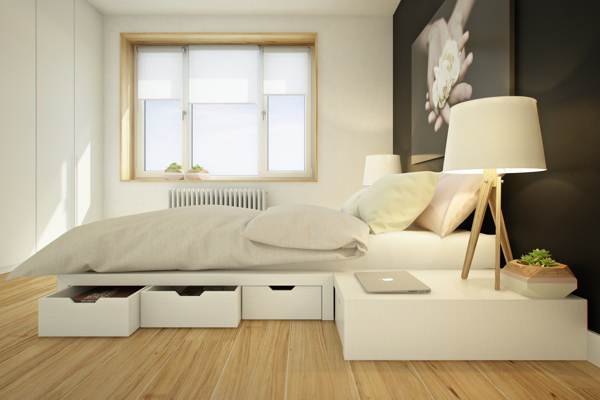 curly studio modular furniture 1 - This apartment is all about storage