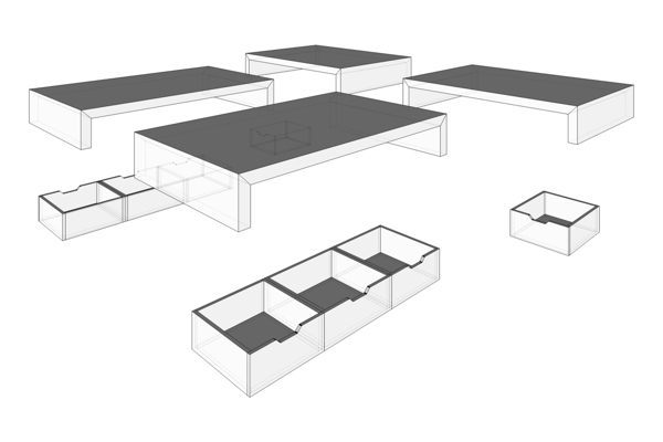 curly studio modular furniture 11 - This apartment is all about storage