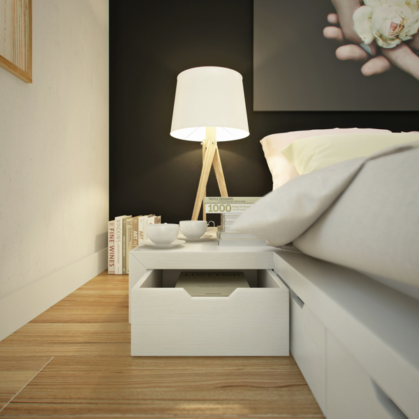 curly studio modular furniture 2 - This apartment is all about storage