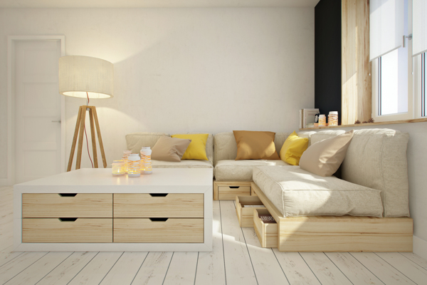 curly studio modular furniture 3 - This apartment is all about storage