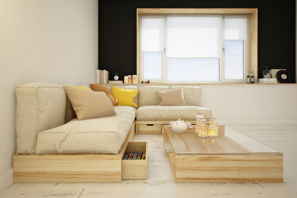 curly studio modular furniture 4 - This apartment is all about storage