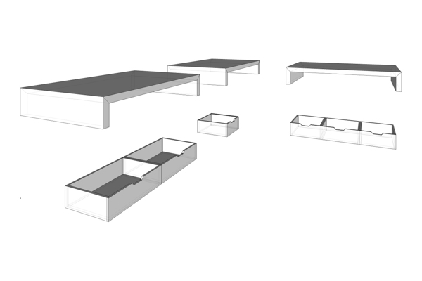 curly studio modular furniture 9 - This apartment is all about storage