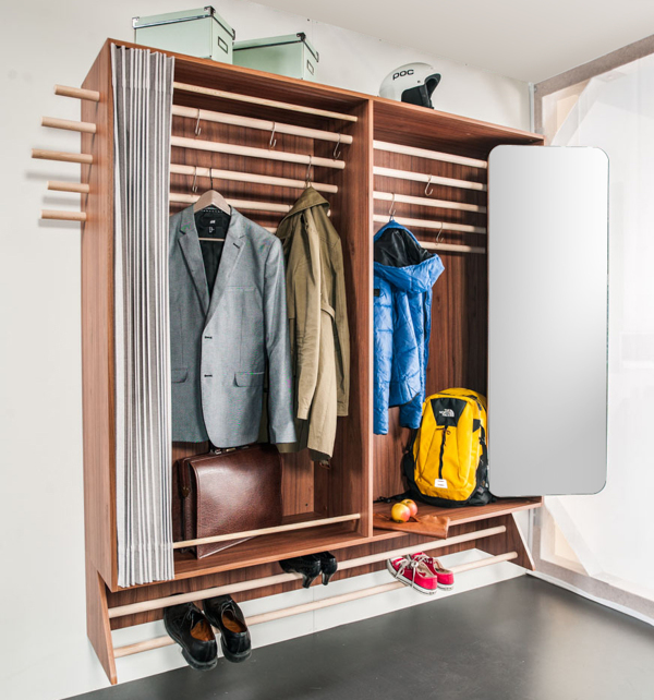 A Wardrobe For Narrow Hallway Living In Shoebox
