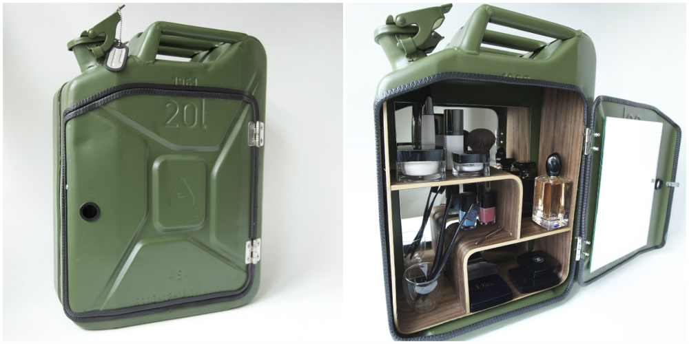 Old Jerry Cans Repurposed Into Trendy Bathroom Cabinets