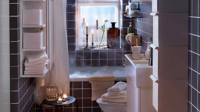 Bathroom With LILLÅNGEN Furniture From IKEA