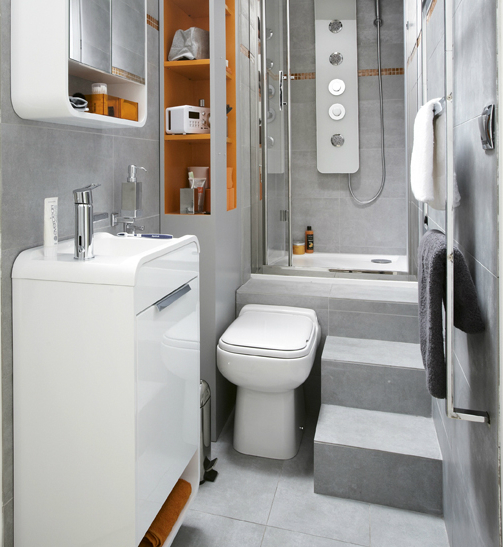 Twelve small and stylish bathrooms living in a shoebox for Lavabo salle de bain petit espace