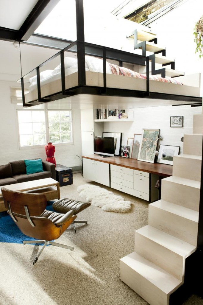 Lovely Beds For Studio Apartments Part - 2: Hanging-loft-bed-apartment-4 ...