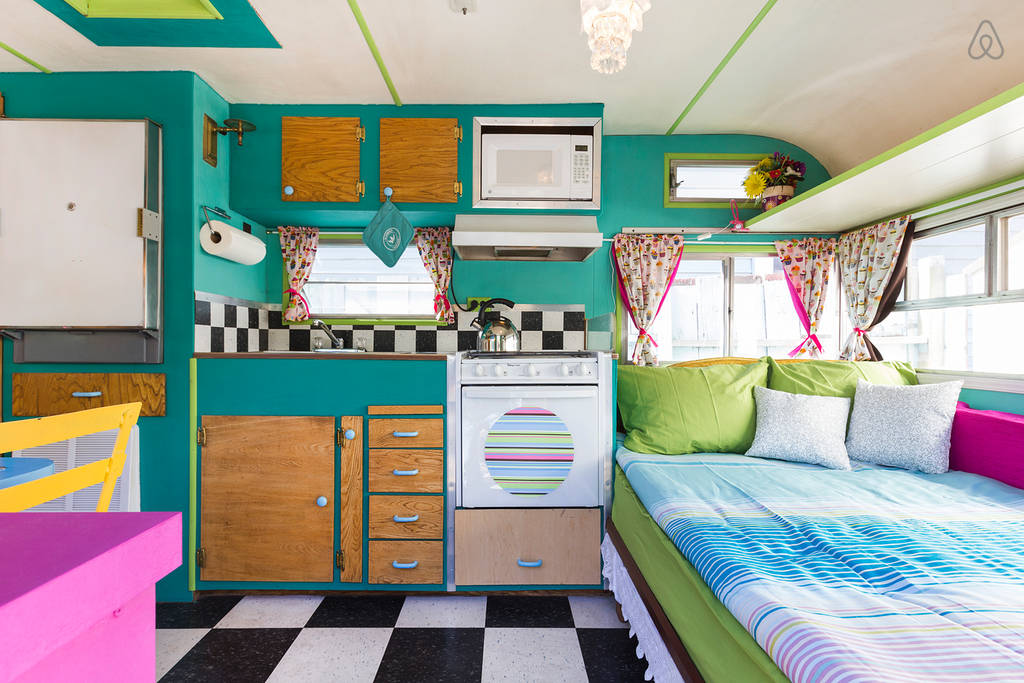 vintage glamping caravan 6 - This restored vintage caravan went from cupcake truck to delightful holiday home