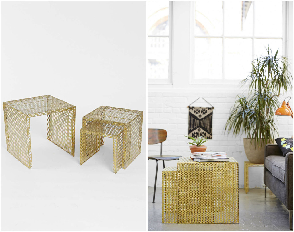 Nesting Tables Gold