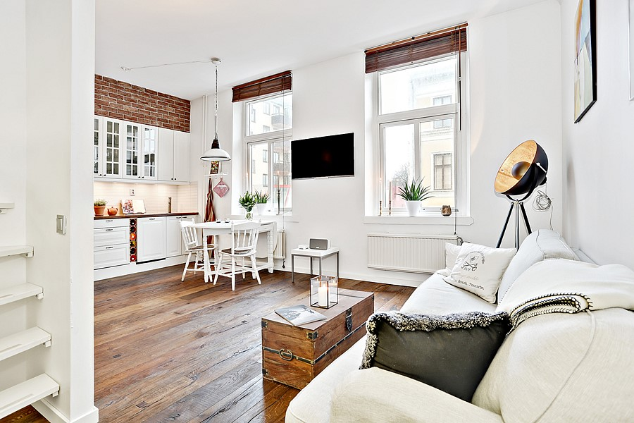 This bright 323 sq ft studio apartment looks triple its Studio type decorating ideas