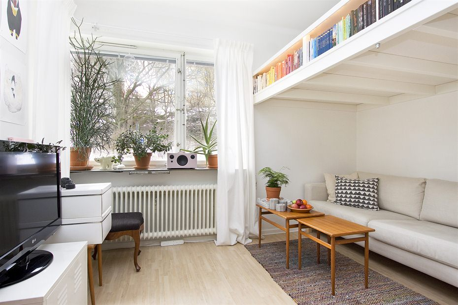 Beds For Studio Apartments Part - 23: Tiny-swedish-apartment-2