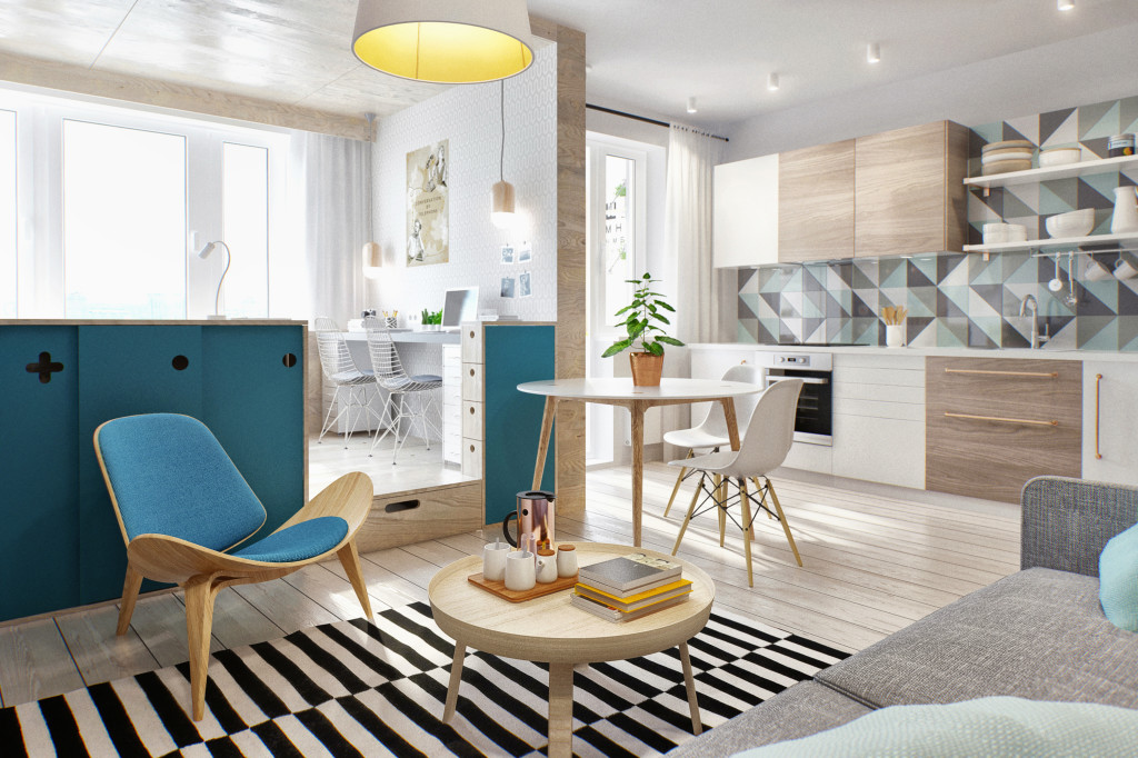 1 - This 430 ft² Russian apartment proves that great style doesn't always come in big packages
