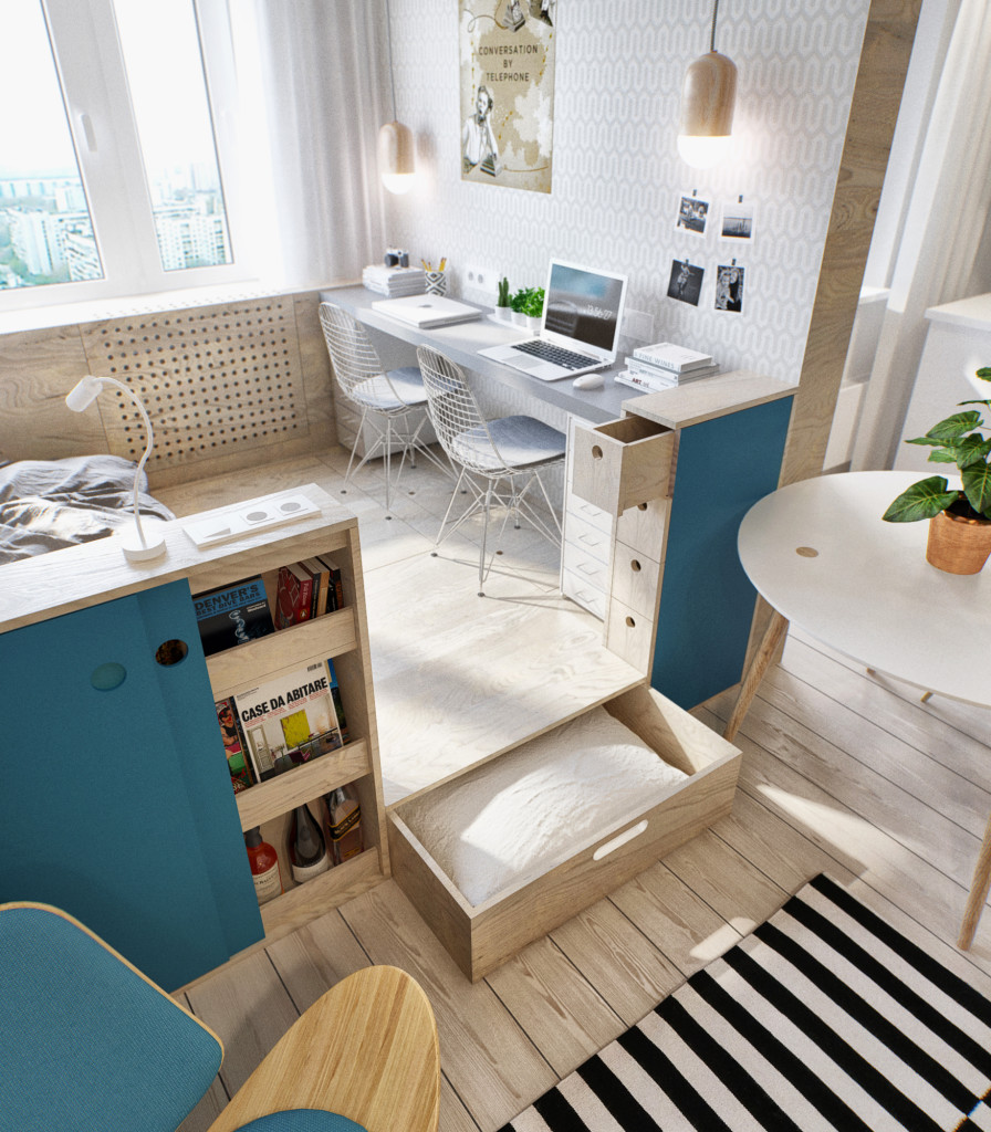 2 - This 430 ft² Russian apartment proves that great style doesn't always come in big packages