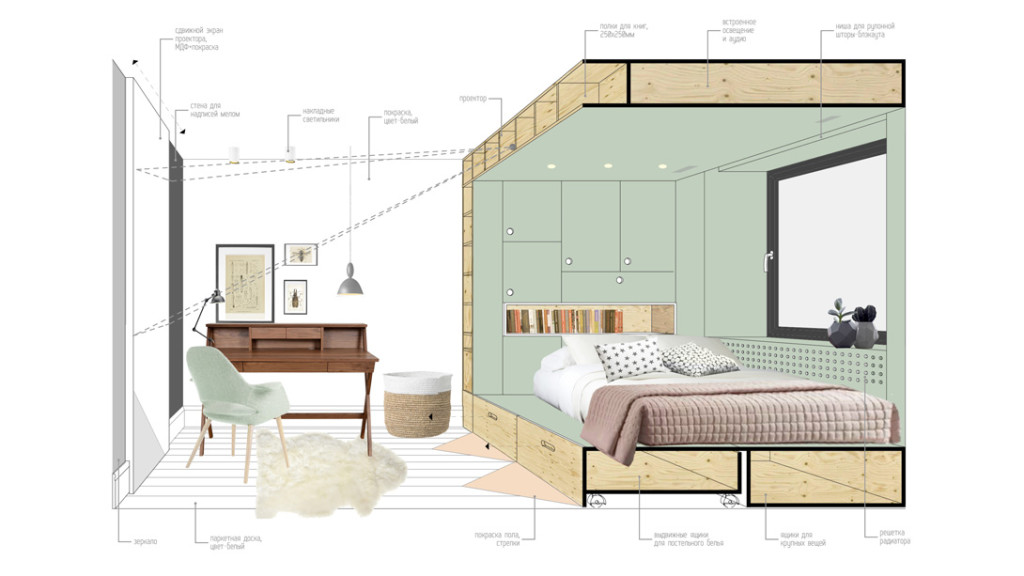 Different Layouts Can Be Worked Into The Same Space By Changing The  Direction Of The Bed. Storage Spaces Are Also Located Beneath The Bed, And  The Height Of ...
