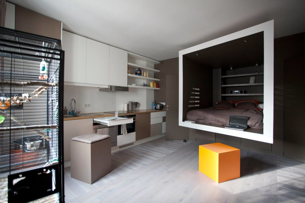 paris cyril rheims tiny apartment 1 - This 302-square-foot apartment feels much bigger than it actually is