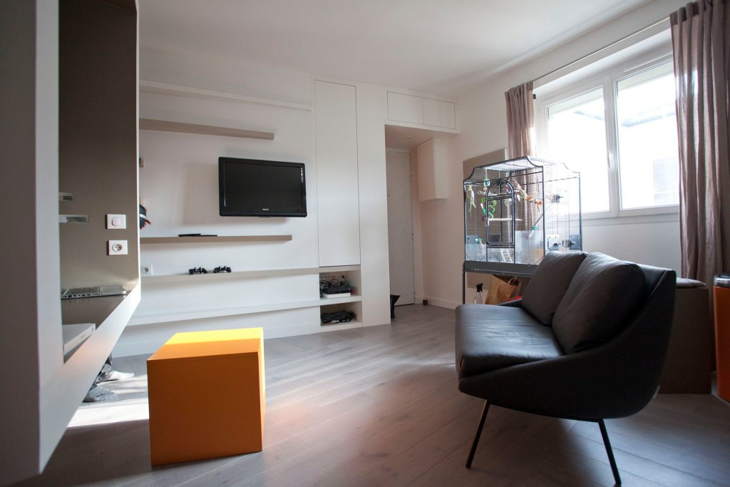 paris cyril rheims tiny apartment 8 - This 302-square-foot apartment feels much bigger than it actually is