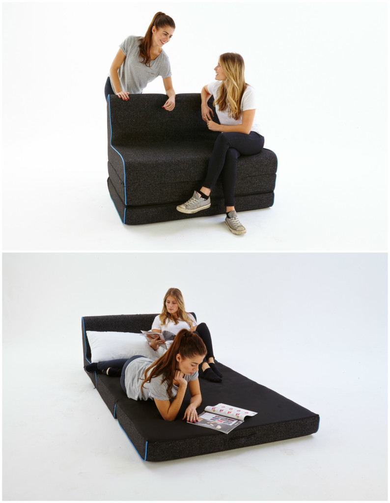 Cool Foot Stool Turns Into A Bed In Seconds Living In A