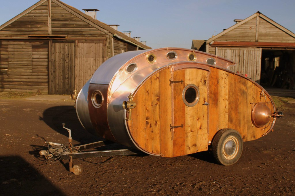 Fantastic Looking Steampunk Teardrop Trailer Comes