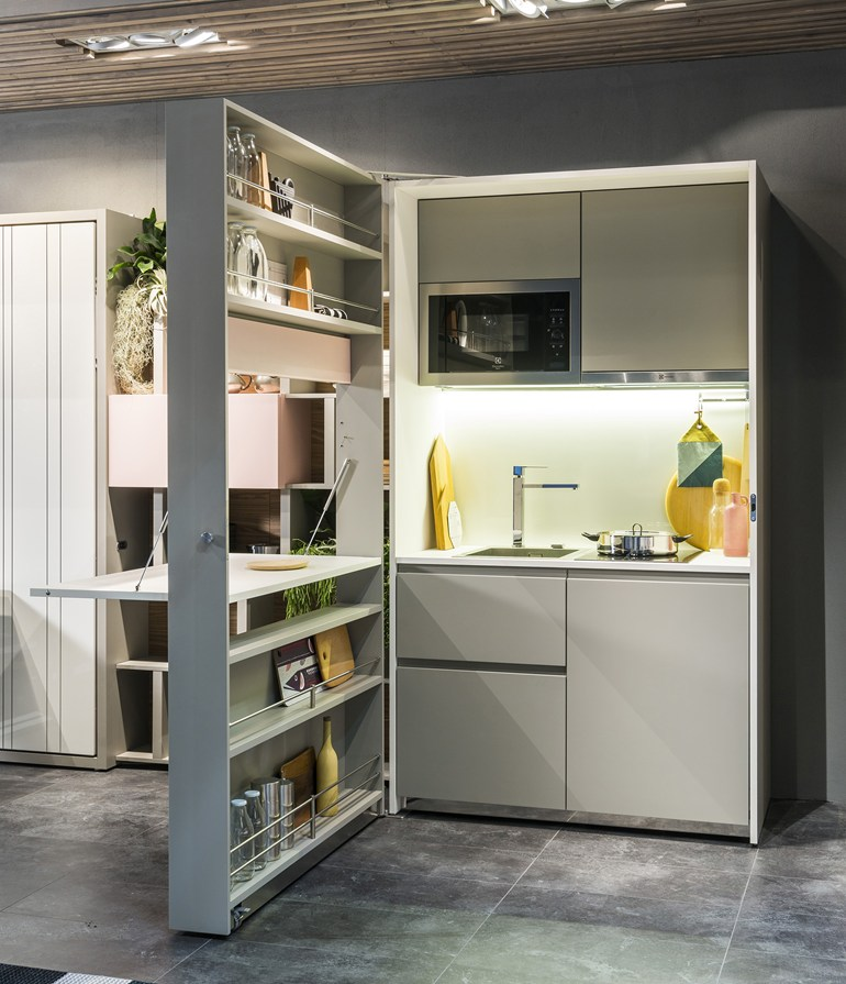 Clei Launches Space saving Hideaway Kitchen Living In A Shoebox