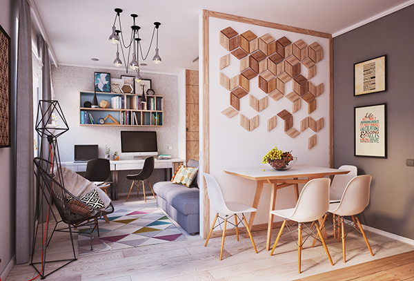 verbi apartment 2 - 430-square-foot apartment in Ukraine does not compromise on function or style