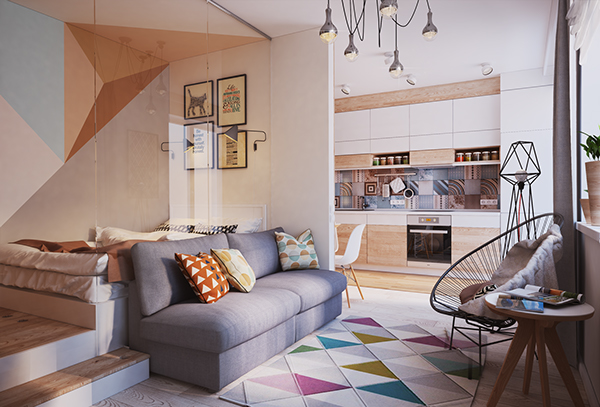 verbi apartment 31 - 430-square-foot apartment in Ukraine does not compromise on function or style